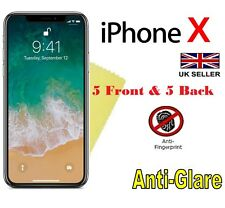 Anti-Glare Matte 5 Front & 5 Back Screen Protectors Film for Apple iPhone X 5.8""
