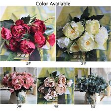 Silk Flowers Fake Bulk Crafts Wedding Party Decoration Lifelike Artificial Peony