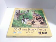 100% Complete DUCK INSPECTOR Persis Clayton Weirs 500 Pc Puzzle cat duck kitten