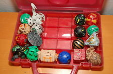 Lot of 18 Bakugan Figures w/ Red Box and Cards