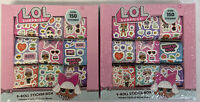 Lot Of 2 NEW LOL 9 Stickers Rolls Over 300 Stickers SEALED BOX L.O.L. Surprise