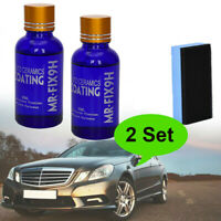 2x 9H Ceramic Coating Paint Care Car Glass Nano Liquid Hydrophobic Auto Polish