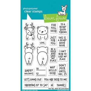 Lawn Fawn Clear Stamp Set - FOR YOU, DEER - LF1480