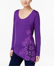 NEW(JN839612) INC Crocheted Asymmetrical Top Vivid Purple Sz XXL $59.50