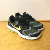 Nike Boy Air Max Premiere Running Shoes 716791-003 Black Volt Gray Youth Size 5y