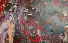 Abstract expressionism vintage oil painting