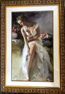 Pino Daeni ANGELICA Giclee On Paper HUGE Framed Art 255/295 Limited Edition