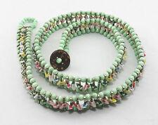Balinais vert oeil de chat perles goupille de sécurité ceinture, 84cm