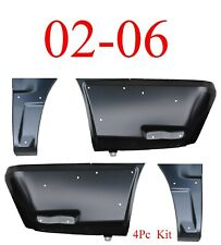 4Pc With Cladding 02 06 Front & Rear Lower Quarter Panel Set, Chevy Avalanche