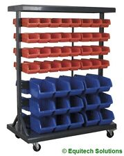 Sealey TPS94 Mobile Portable Racking Parts Storage Container System 94 Bins