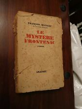 Le Mystere Frontenac  by Francois Mauriac - 1933 edition Grasset