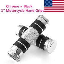 "1"" Motorcycle Hand Grips Handlebars For Harley Davidson Road King Softail Custom"
