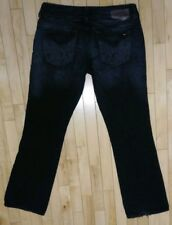 """Tommy Hilfiger SALLY Black Ash Destructed Womens Boot Cut Jeans Size 32 x 32"""""""
