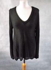 RAG & BONE black unusual knit jumper size M UK 12