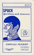 "Star Trek TOS Fanzine ""Spock: Questions and Answers: Starfleet..."" Gen Vintage"