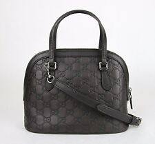 Gucci Convertible Guccissima Crossbody Mini Dome Purse Dark Brown 341504 2044