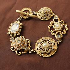 Bracelet Mini Pearl Square Flower Retro Vintage Original Evening Marriage Gift