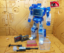 THF Transformers Decepticons Soundwave & 2 Tape  Transparent Ver Action Figures