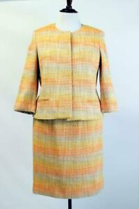 NWT Orange Yellow TALBOTS SKIRT SUIT Blazer Jacket Woven PLUS XXL 1X 14W 20