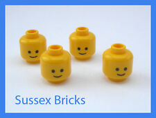 Lego - 4x Classic Smiley Standard Grin Minifigure Head - New - 3626cp01