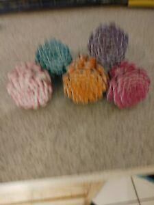 5- Hand painted pinecones.