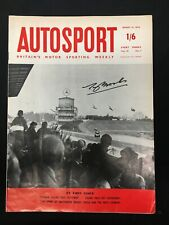 Tony Brooks SIGNED Autosport Magazine, 1959 Winner AVUS Formula 1 GP, Ferrari F1