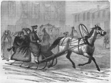 RUSSIA. St Petersburg. Town Sledge 1871 old antique vintage print picture