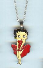 BETTY BOOP, Red Dress, Charm, Pendant & .925 Necklace - R75