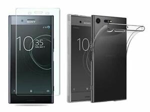 Transparent Case+Screen Protector 3D For Sony Xperia XZ Premium