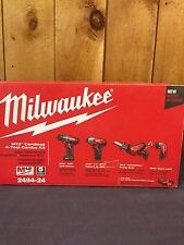 Milwaukee 249424 M12 12V Cordless Lithium-Ion 4-Tool Combo Kit