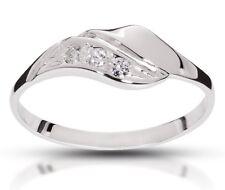 SONDERANGEBOT! Verlobungsring 585 Weissgold 3x Brillant 0,055 SI/H !!!