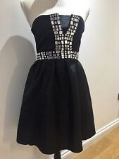 Strapless Sparkly Dress Prom Party Evening Dress Black With Stones 8 ATMOSPHERE