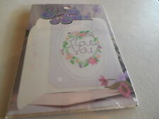 New STITCH & SEND Greeting CARDS Counted Cross Stitch KITS I Love You