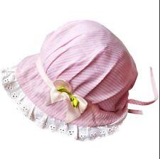PINK & WHITE BABY COFANO tradizionale cotone da sole bimba neonato battesimo UK