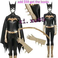 Batgirl Batman Cosplay Costume Women's Suit Customize Full Suit Hat Halloween