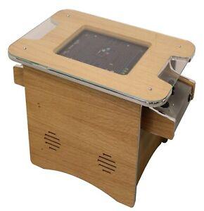 Retro Arcade Cocktail Table Machine With 516 retro games - Oak Veneer