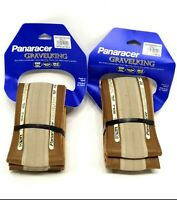 2-PACK Panaracer GravelKing 700 x 32 TLC Slick Gravel King Bike Tire, Tan, PAIR
