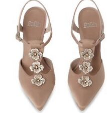 Womens Faith Satin Flower High Sandals Size 5 RRP £75.00