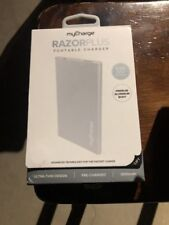 myCharge RazorPlus Ultra-Thin Portable Charger with USB Port Silver RZ30V-B