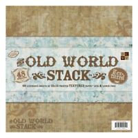 Diecuts With A View 12 x 12-inch Old World Texture Paper Stack, Pack Of 48, -