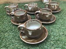Aylesford Pottery Tea/coffee Cups And Saucers set Of Six