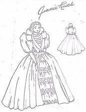 "17""ANTIQUE CHINA HEAD/PARIAN LADY DOLL CLOTH BODY COAT-DRESS PETTICOAT PATTERN"