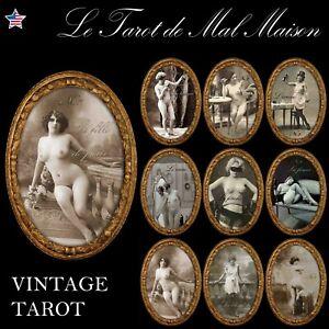 le tarot di mal maison vintage brothel photograpy cards deck rare antique oracle