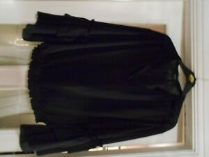 Star by Julien Macdonald Black Chiffon Top with Flared Sleeves - Size 20 BNWOT
