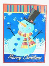 "Christmas House Flag Decorative Merry Christmas 28x40"" Snowman Holiday NEW"