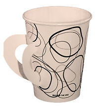 8 oz Coffee/Hot Cup with Handle 1,000/box (Mocha Design)