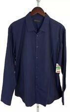INC International Concepts Large Navy Blue Long Sleeve Button Front NWT