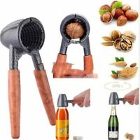 Practical Opener Nut Cracker Sheller Walnut Pliers Wood Handle Kitchen Supply^