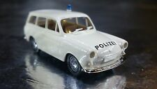 * Brekina 26510 VW Combi / Estate 1500 Police Vehicle White 1:87 HO Scale