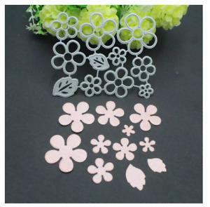 9pcs Flower Leaf Metal Cutting Dies Stencils Scrapbooking Embossing Card Craft